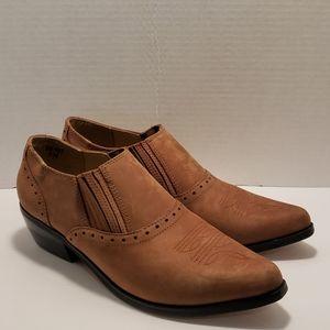 Dingo brown cowboy booties size 8